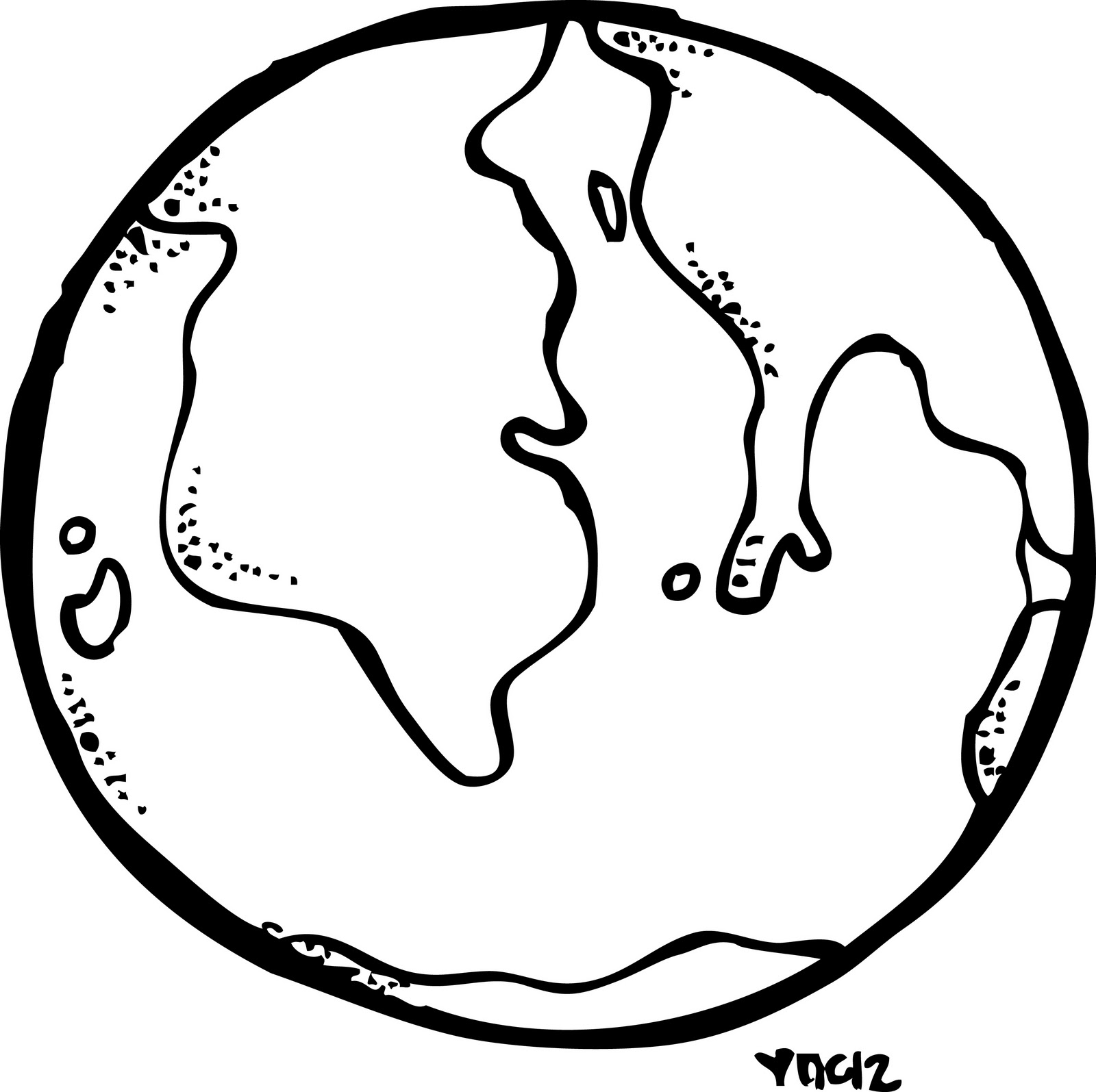 Line Art Earth : The earth drawing clipart best