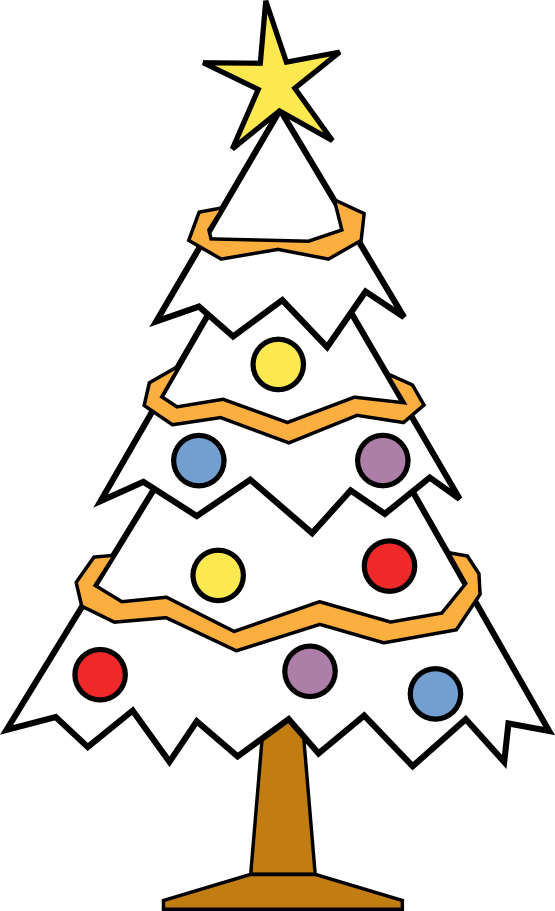 Free Black And White Clipart For Christmas