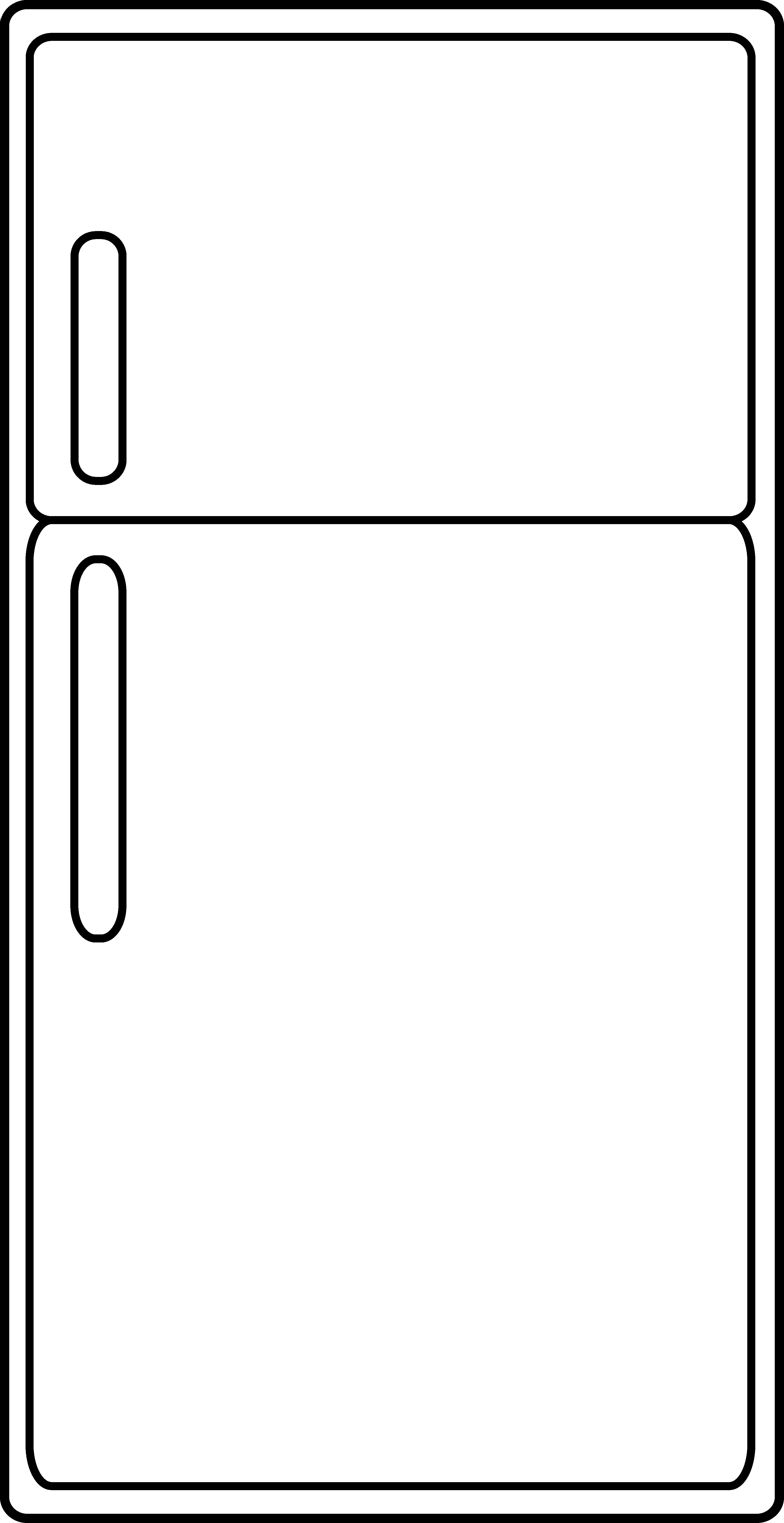 Clip art line clipart best for Refrigerator coloring page