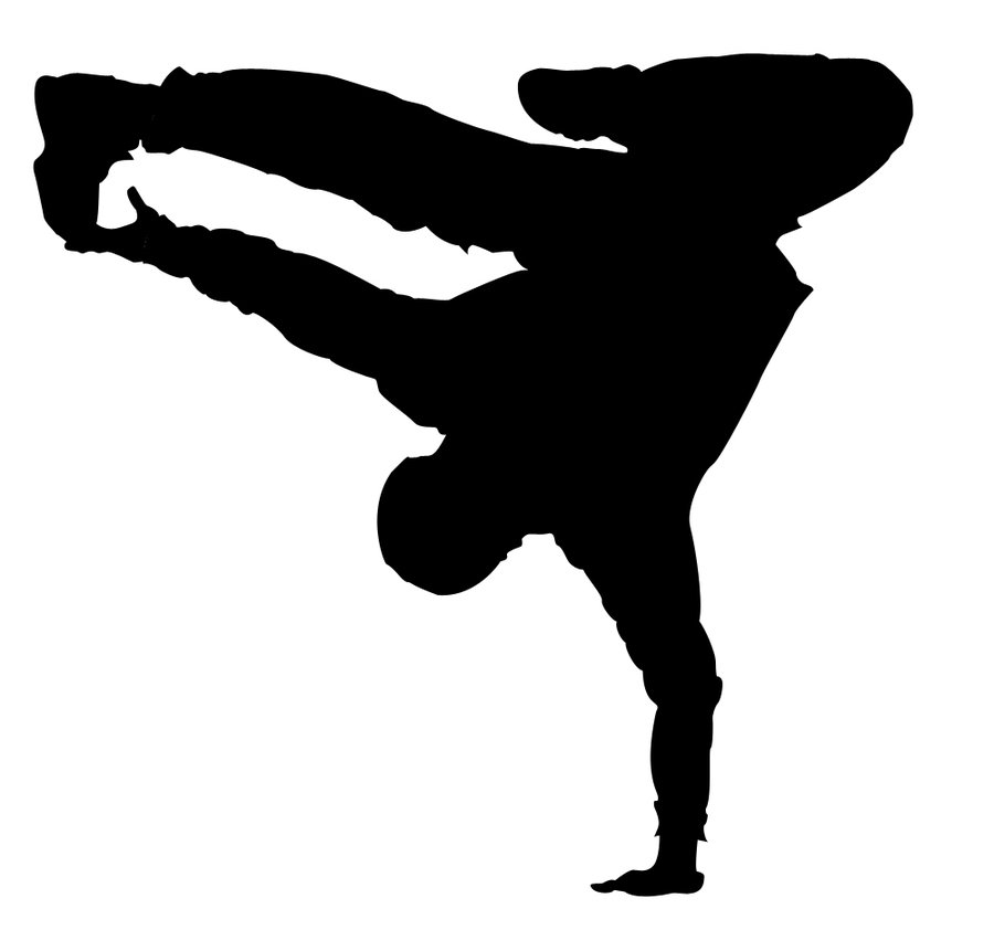 Hip Hop Dancer Silhouette Vector - ClipArt Best