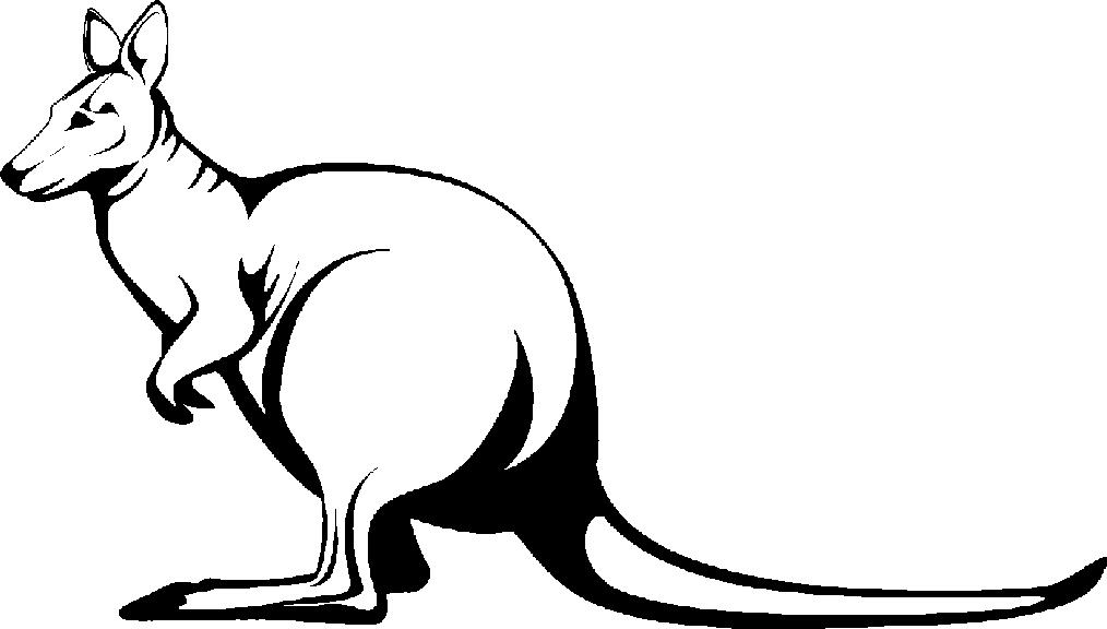 Kangaroo Clip Art Black And White Black And White Kangar...