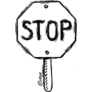Stop Sign Black White - ClipArt Best
