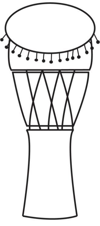 Djembe drawing