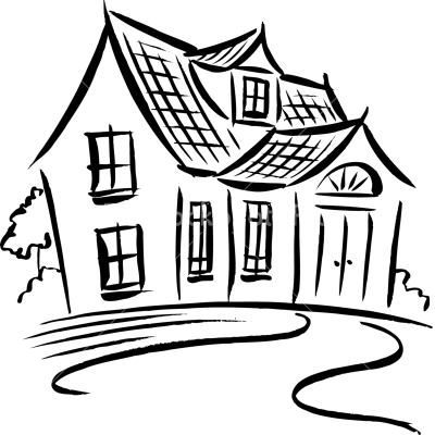 imgs for gt house drawing black and white clipart best