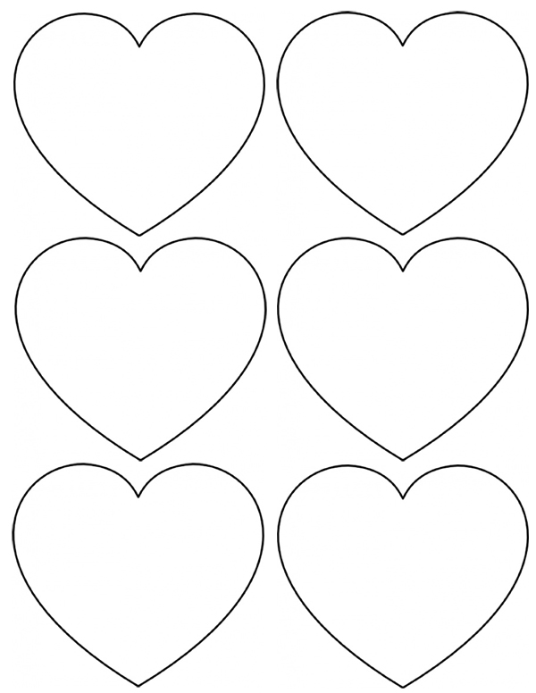Heart template clipart best for Small heart template to print