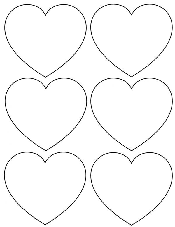 clip art heart template - photo #41