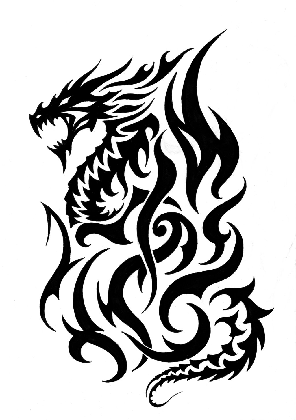 Fire Breathing Dragon Tattoo Designs Fire Breathing Dragon Tattoo