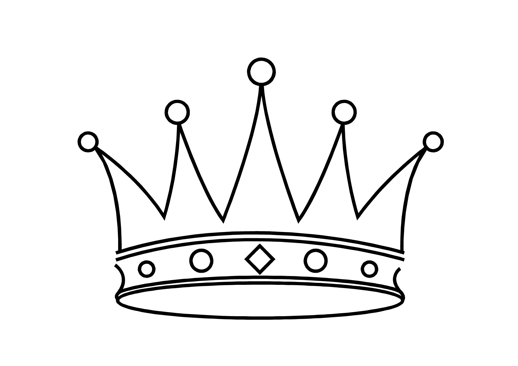 Simple king crown outline - photo#7