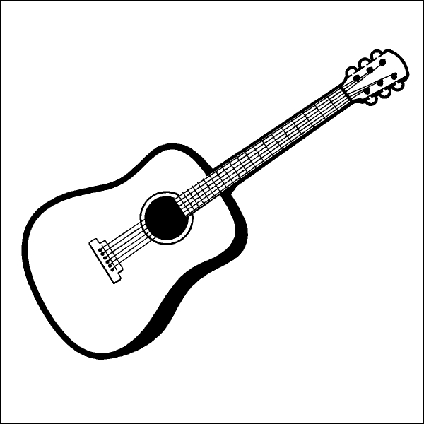 Guitar Clip Art Black And White - ClipArt Best