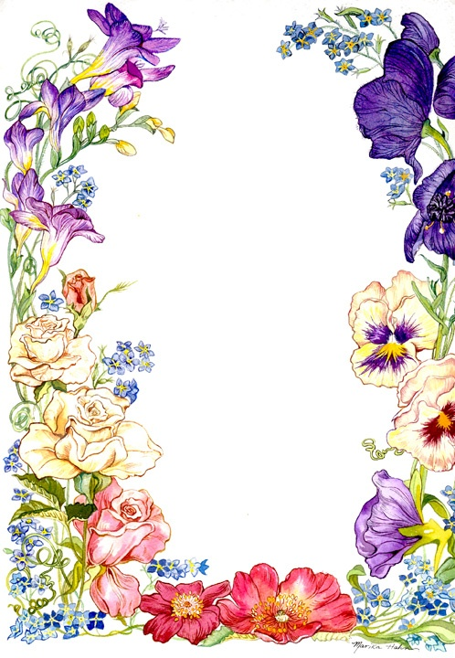 Flower Card Borders Clipart Best