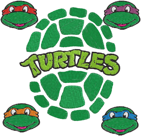 Free Ninja Turtle Embroidery Designs