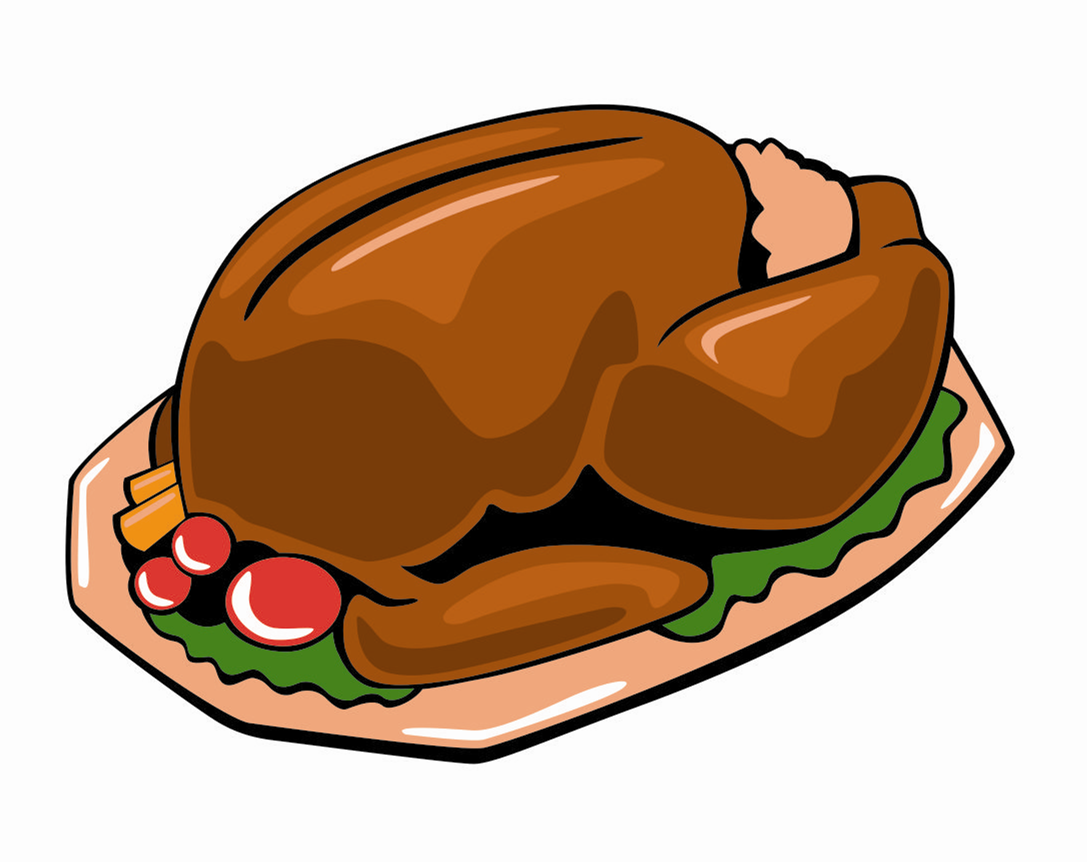 how to draw a cartoon cooked turkey