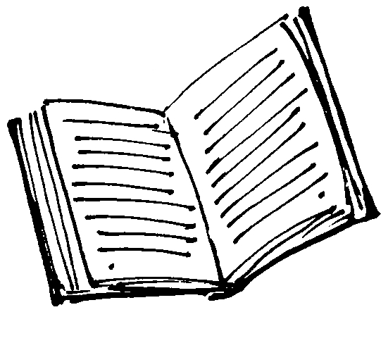 Open Book Line Drawing Book Drawing - ...