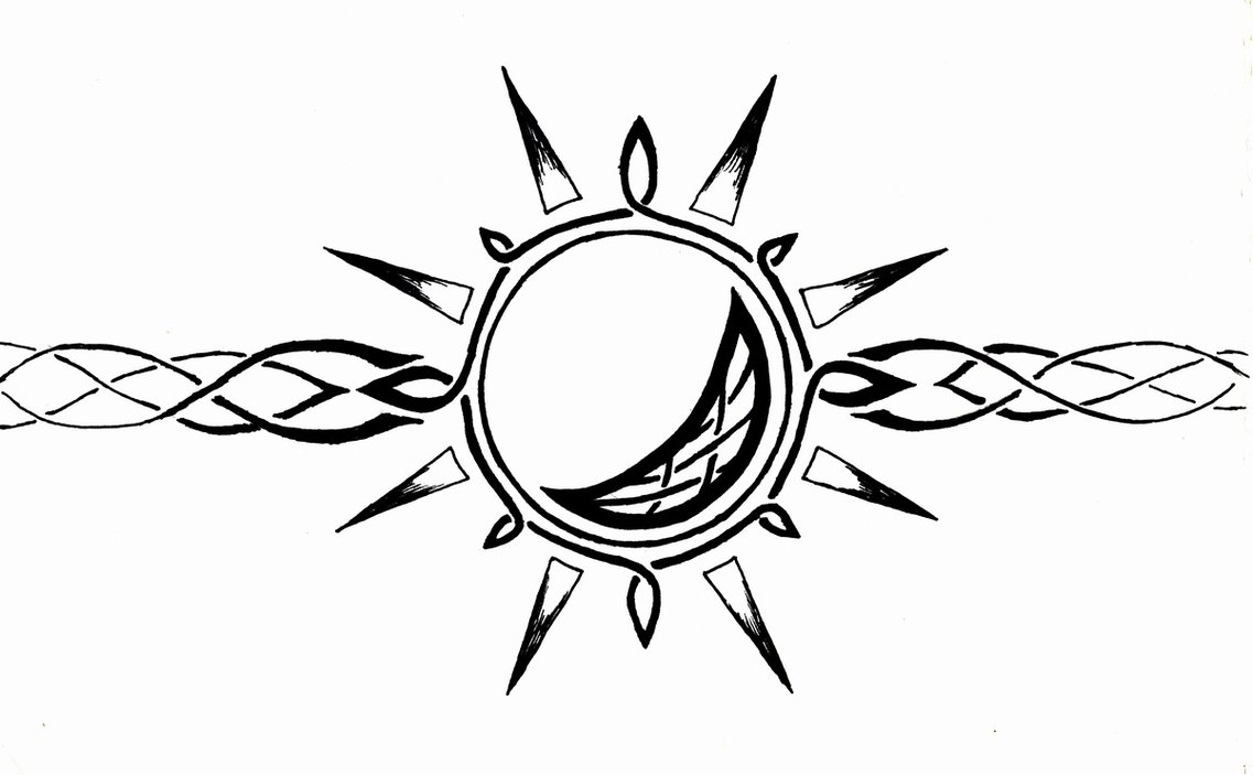 Sun Moon Drawings Tribal Full Moon Drawing