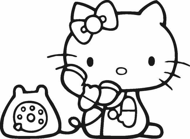 Hello kitty logo black and white