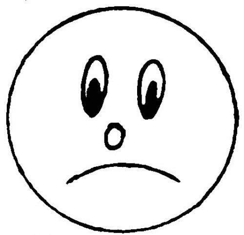 Line Drawing Of Happy Face : Sad line face clipart best
