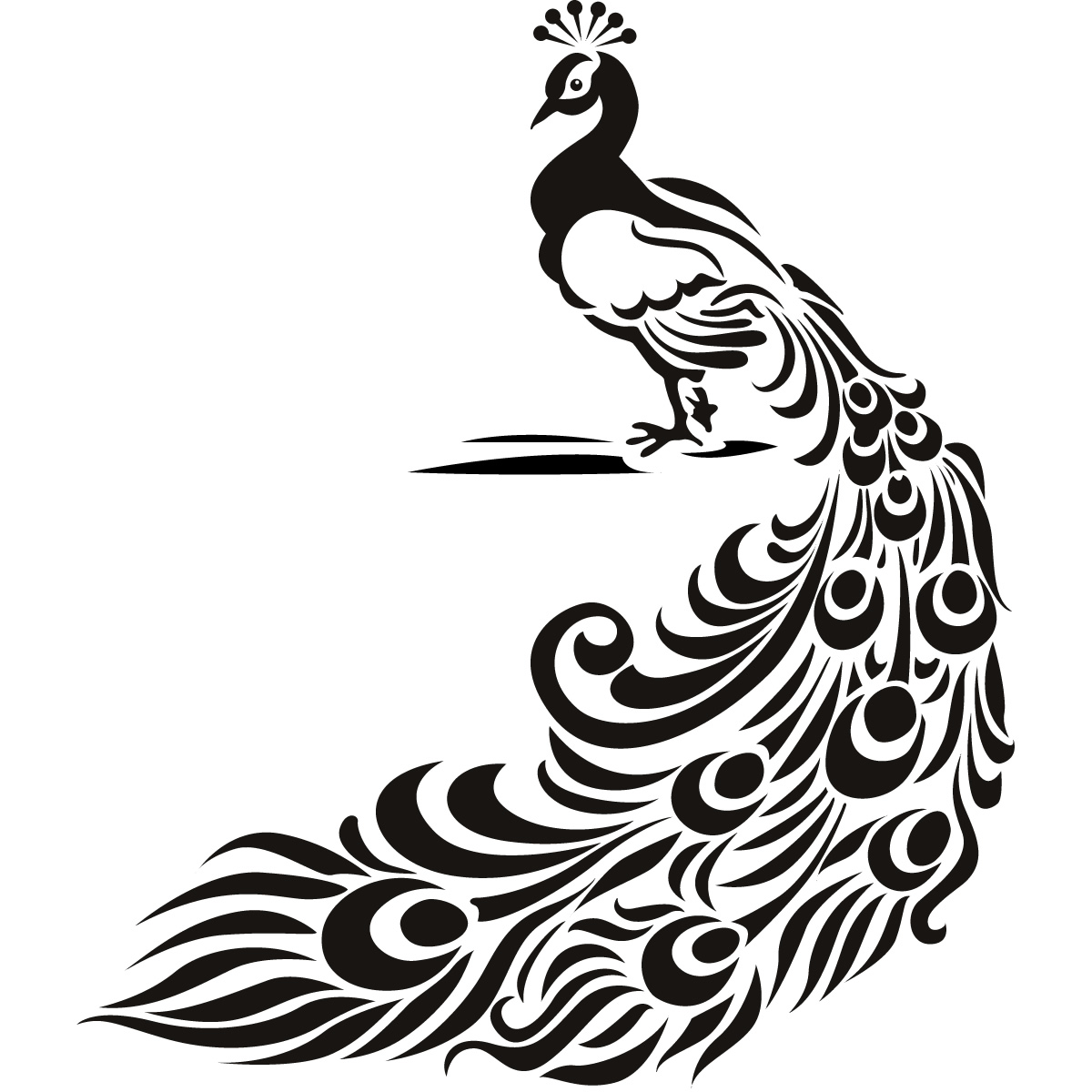 Peacocks Drawings Clipart Best