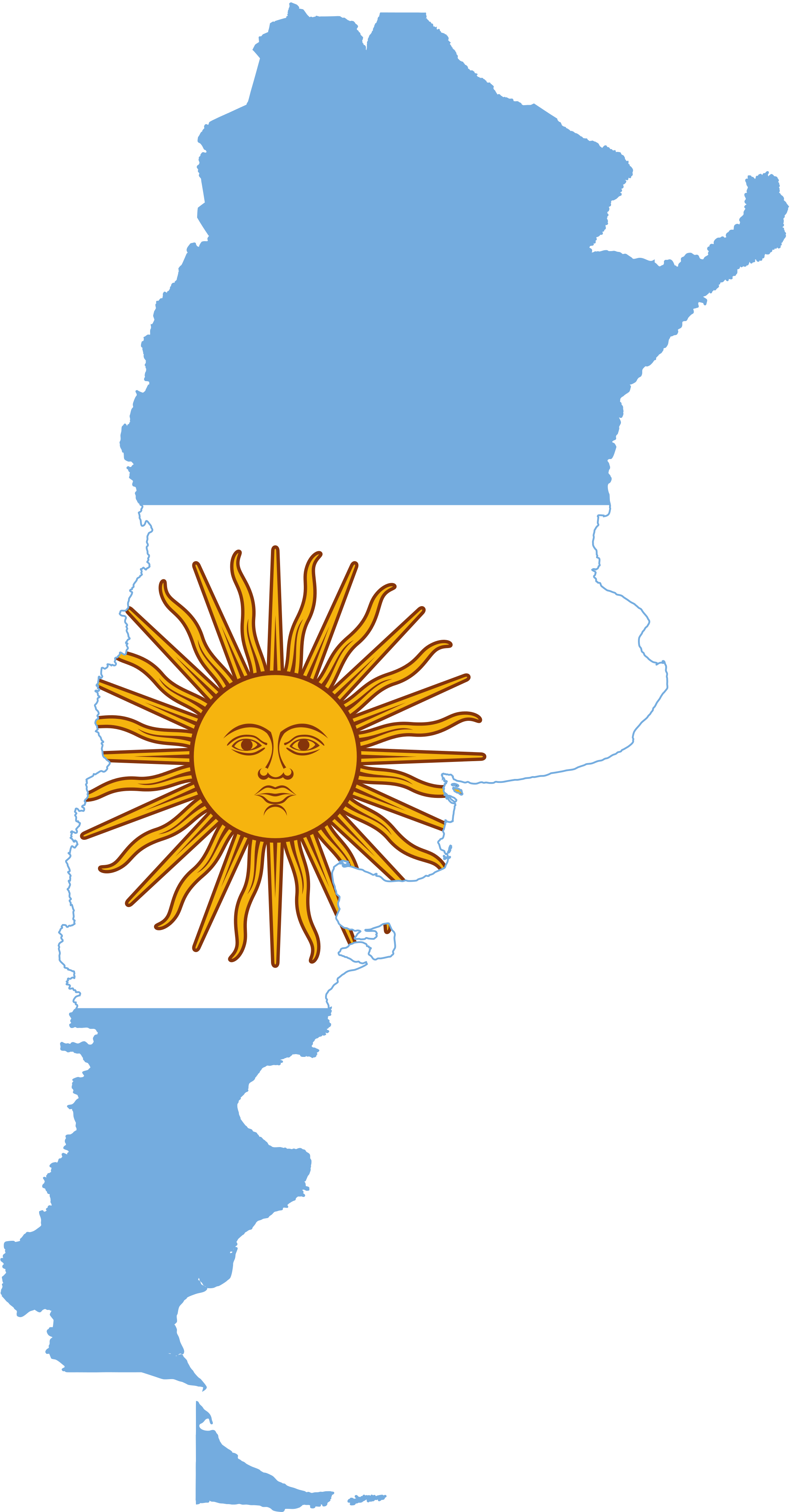 Argentinian Flag On Map - ClipArt Best
