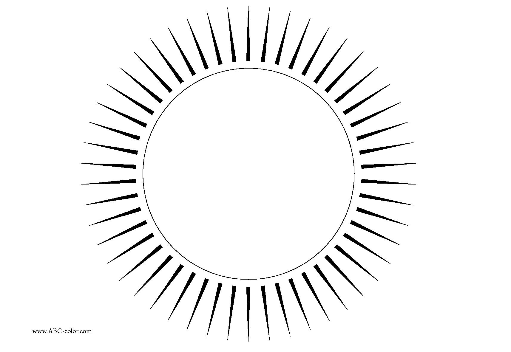 Раскраски солнце для детей - 6