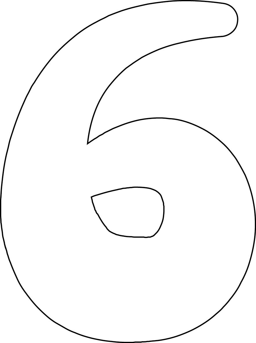 Number 4 Stencil Printable Number 6 printable image for