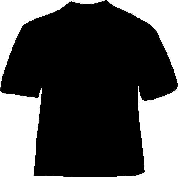 black t shirt vector - photo #6