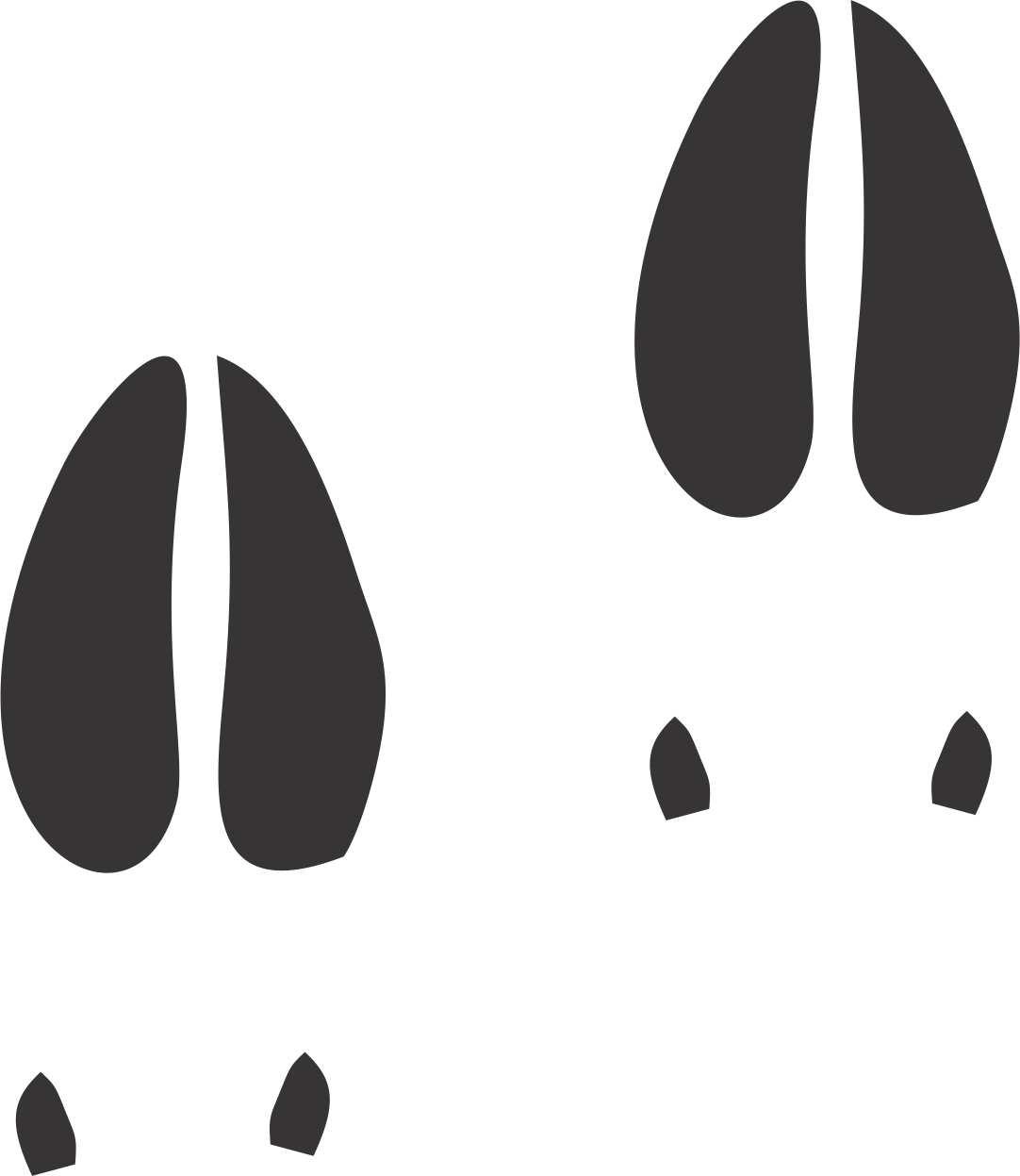 Deer Skull Silhouette - ClipArt Best