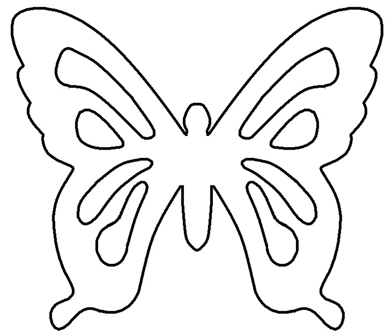 Outline Of A Butterfly - ClipArt Best