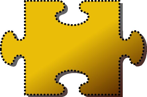 Jigsaw Puzzle Piece Clipart Jigsaw Yellow Puzzle Piece