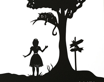 Peter Pan and Wendy Darling Disney Silhouettes by italsma