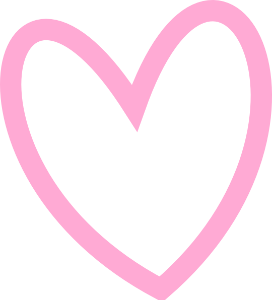 Pink heart picsPink Heart Outline Png