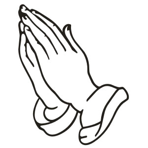Revered image regarding printable praying hands