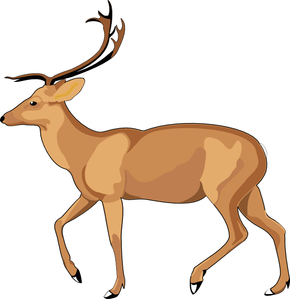 Gazelle running clipart