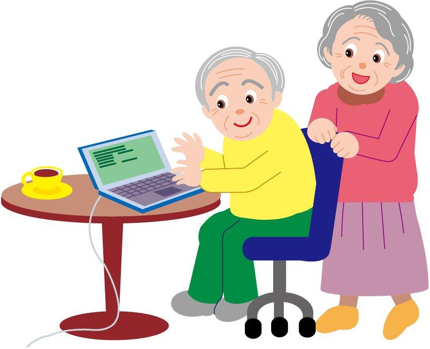 cartoon elderly person clipart best