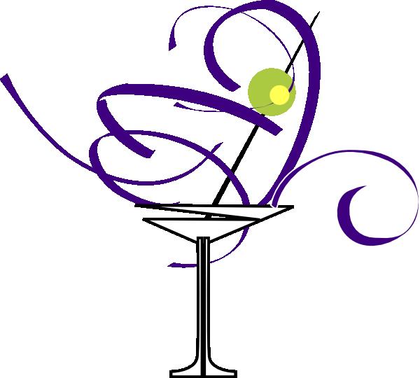 Purple Martini Glass clip art - vector clip art online, royalty ...