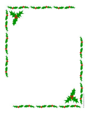 Holly Border Clip Art - ClipArt Best