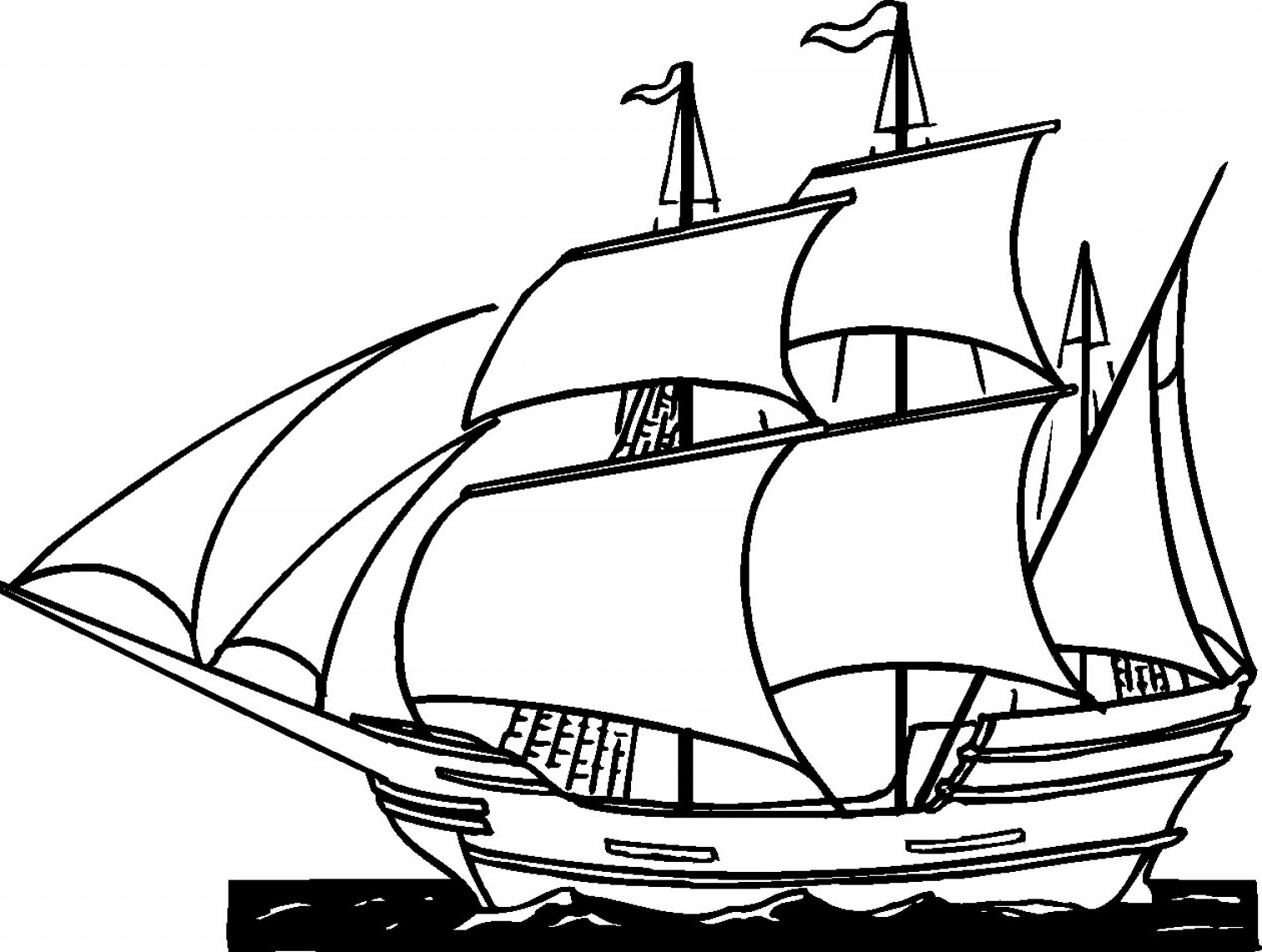 Line Drawing Ship : Clipper ship images line drawing clipart best