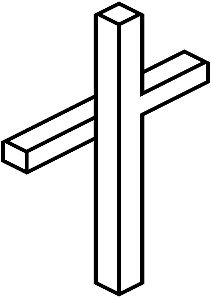 3d cross clip art