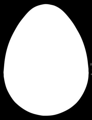 blank easter egg clipart