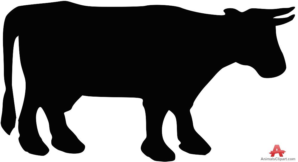 Cow calf silhouette