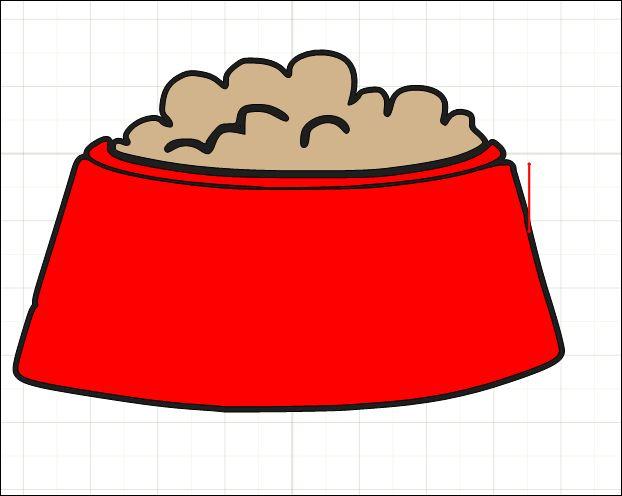 cartoon dog food bowl   clipart best