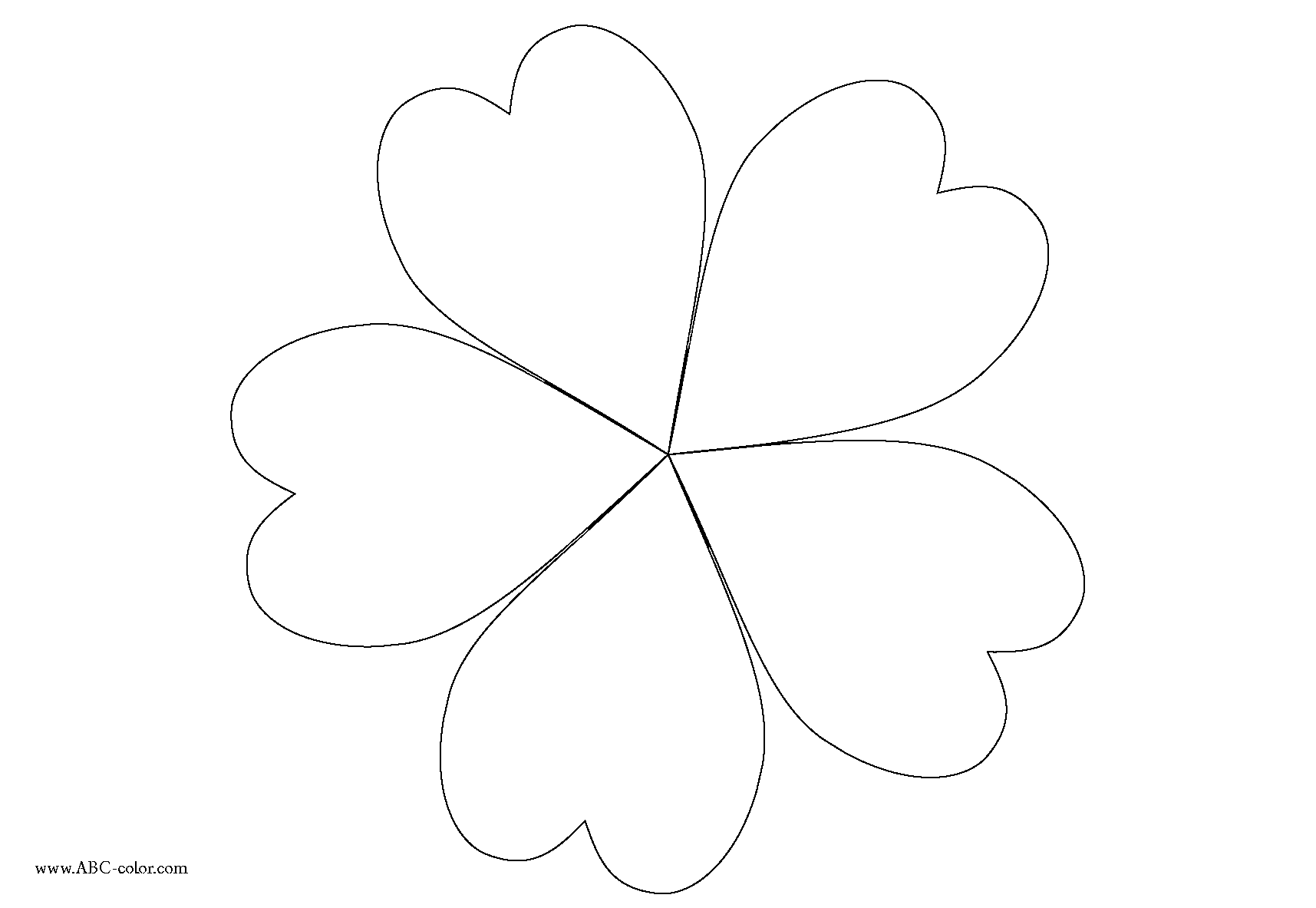 Flower Petals Line Drawing : Petal flower templates clipart best