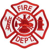 Blank Fire Department Logo Maltese Cross Red free image
