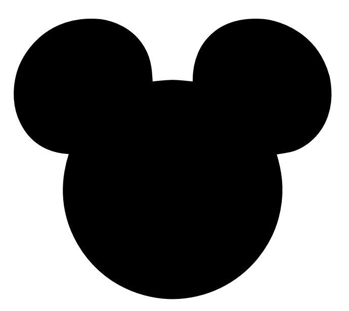mickey mouse head shape template - mickey mouse head clipart best