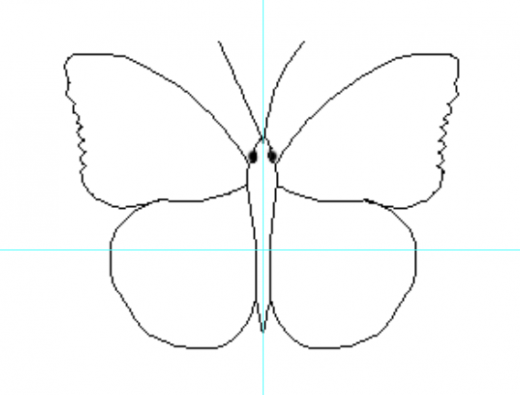 butterfly drawing outline clipart best