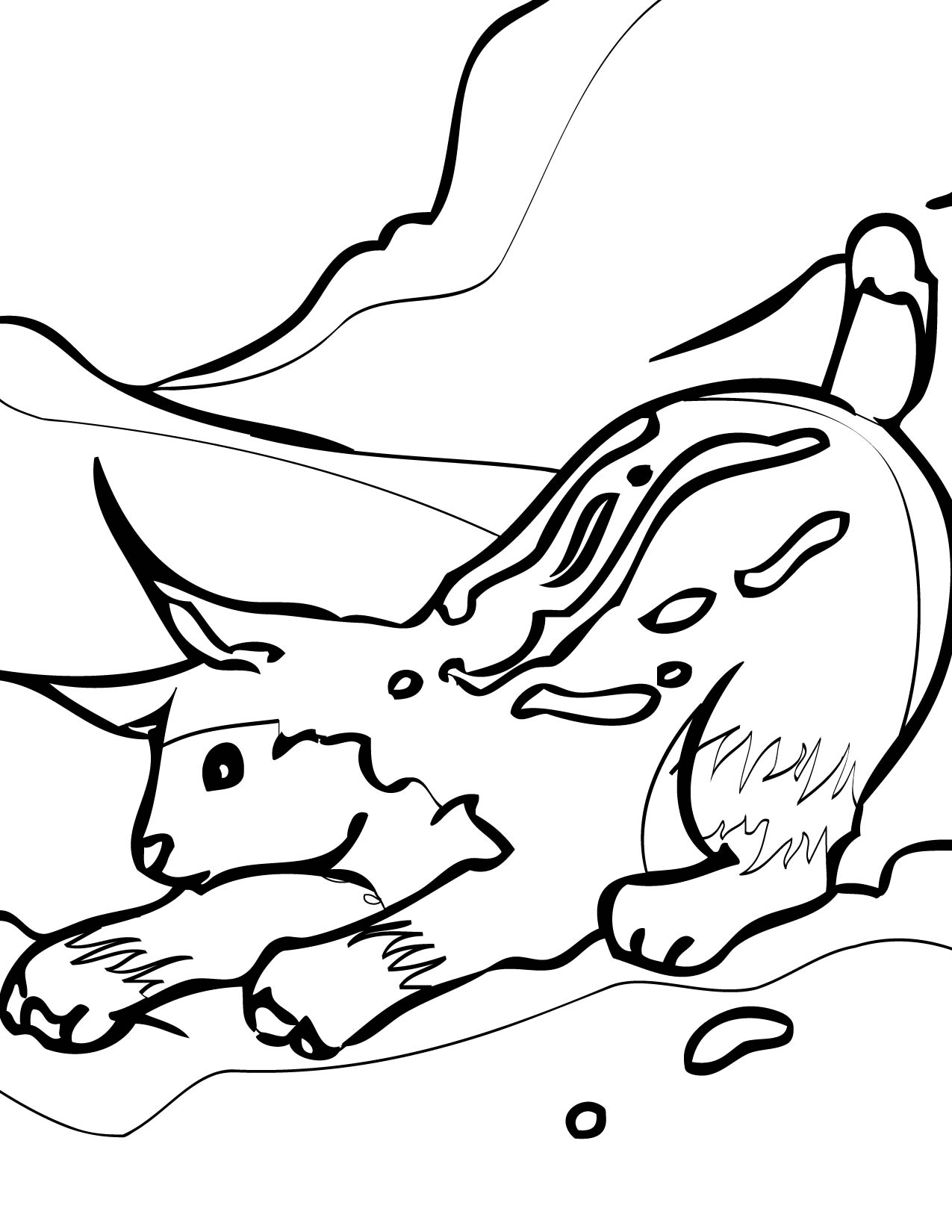 coloring pages of arctic animals - photo#31
