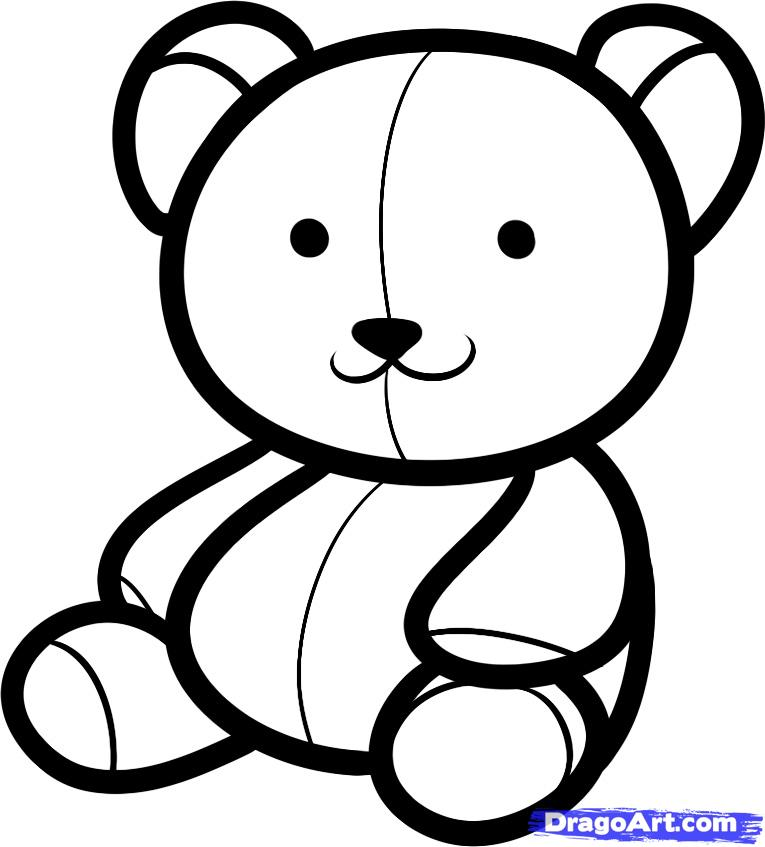 How To Draw A Teddy Bear Step By Step Easy - ClipArt Best