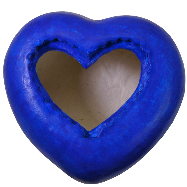 Eco-Friendly Blue Heart Urn- Turtle with Shell Small