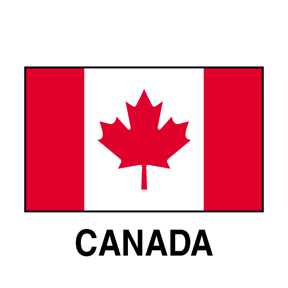 Versatile image with printable canadian flag
