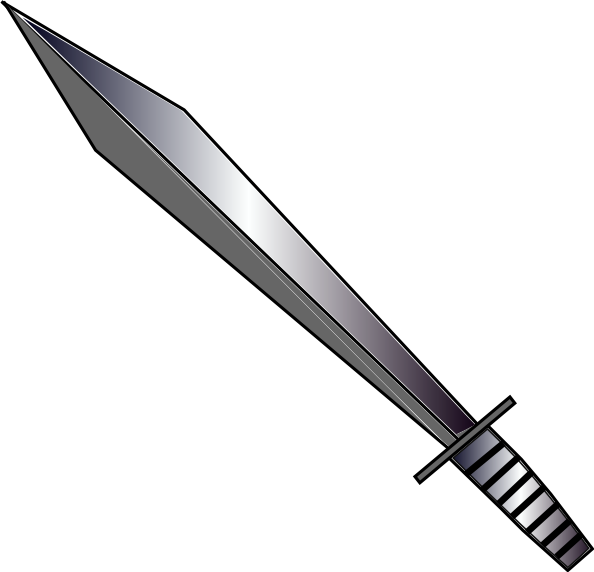 Sword clip art Free Vector / 4Vector