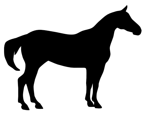 horseshoe silhouette clip art - photo #49